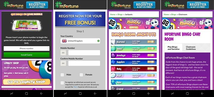 Review of the mFortune bingo app