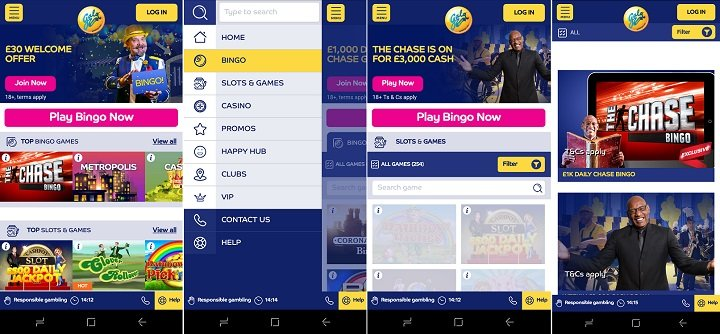 bingo app for Android from Gala