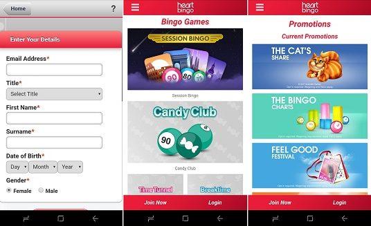 Latest review Heart bingo app