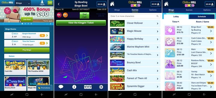 Review of the William Hill bingo app