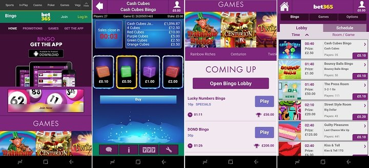 Android bingo app from bet365