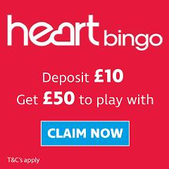 Deposit £10 play with £50 free bingo