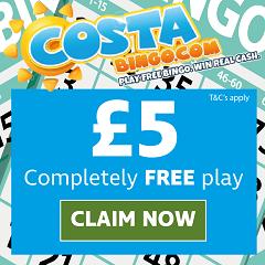 £5 completely free bingo bonus