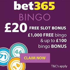 Claim free bingo bonus