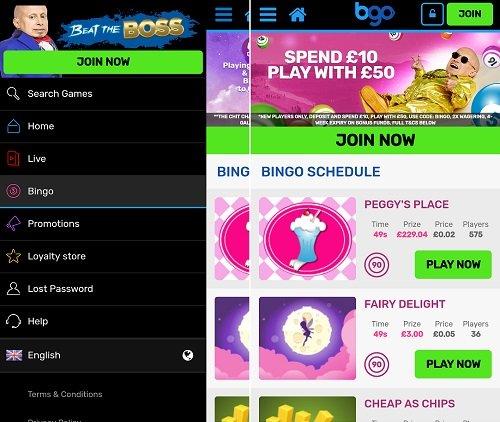 Review of the bgo mobile bingo app