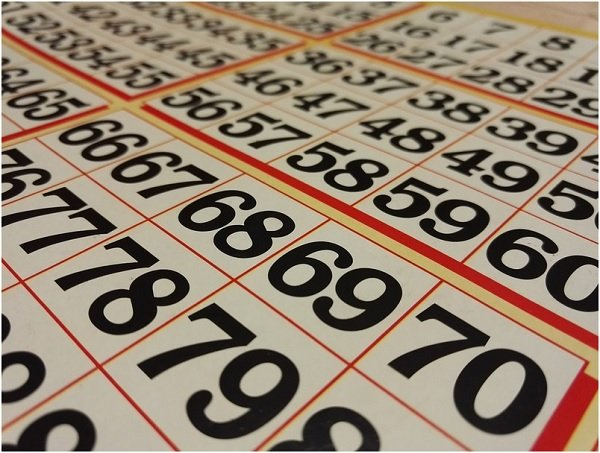 Close up of a bingo slip