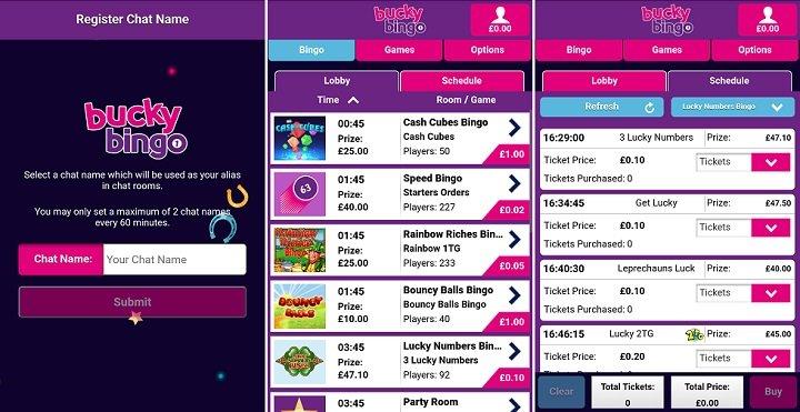 Bucky bingo iPhone app